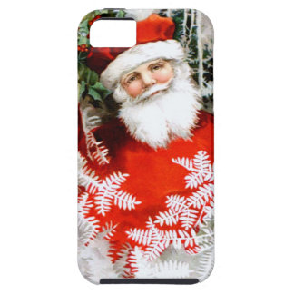 Clapsaddle: Santa Claus with Holly iPhone 5 Case