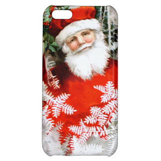 Clapsaddle: Santa Claus with Holly iPhone 5C Cases
