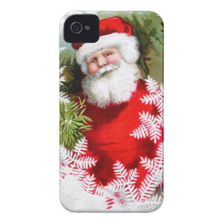 Clapsaddle: Santa Claus with Mistletoe iPhone 4 Covers