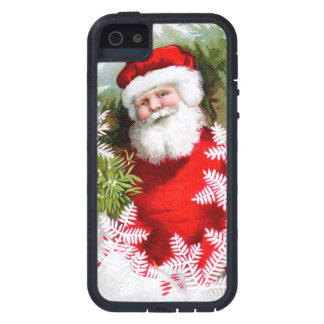 Clapsaddle: Santa Claus with Mistletoe iPhone 5 Cover