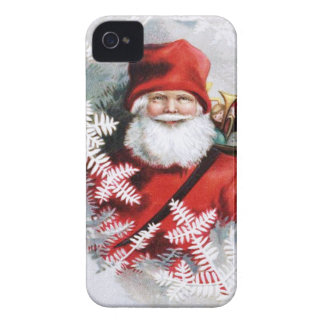 Clapsaddle: Santa Claus with Toys and Fir Twigs iPhone 4 Covers