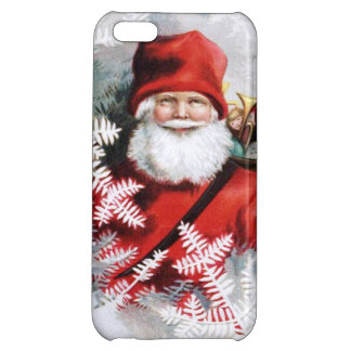 Clapsaddle: Santa Claus with Toys and Fir Twigs Case For iPhone 5C