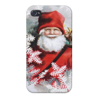 Clapsaddle: Santa Claus with Toys and Fir Twigs iPhone 4/4S Cover
