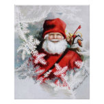 Clapsaddle: Santa Claus with Toys and Fir Twigs Print
