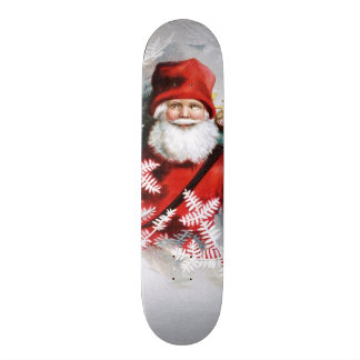 Clapsaddle: Santa Claus with Toys and Fir Twigs Custom Skate Board