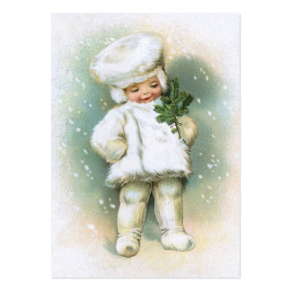 Clapsaddle: Winter Boy with Fir Twig Business Card Templates