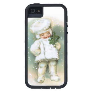 Clapsaddle: Winter Boy with Fir Twig iPhone 5 Cover