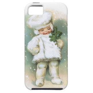 Clapsaddle: Winter Boy with Fir Twig iPhone 5 Covers