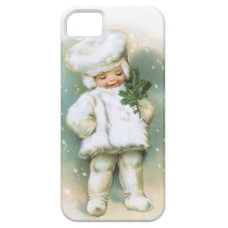 Clapsaddle: Winter Boy with Fir Twig iPhone 5 Case