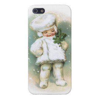 Clapsaddle Winter Boy with Fir Twig iPhone 5 Covers
