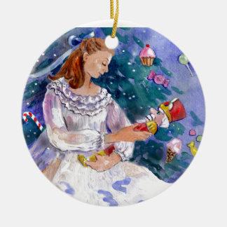 Clara and the Nutcracker Christmas Ornament