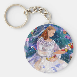 Clara and the Nutcracker Basic Round Button Key Ring