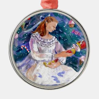 Clara and the Nutcracker Silver-Colored Round Decoration