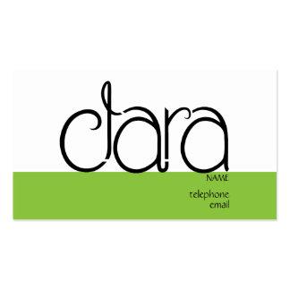 Clara black Profile Card Business Card Templates