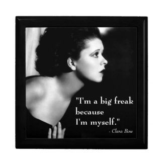 Clara Bow 1920s Film Star Inspiring Quote Large Square Gift Box