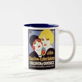 Clara Bow Esther Ralston Children Divorce poster Two-Tone Mug