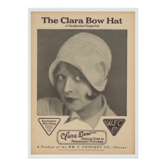 Clara Bow Hat print advertisement
