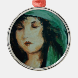 Clara Bow Silver-Colored Round Decoration