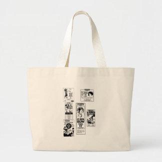 CLARA BOW vintage silent movie ads Jumbo Tote Bag