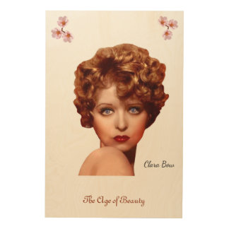 Clara Bow Wood Print