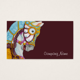 Clara Carousel Horse Business Card