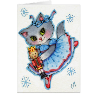 Clara - Cute Nutcracker Christmas Cat Cards