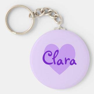 Clara in Purple Basic Round Button Key Ring