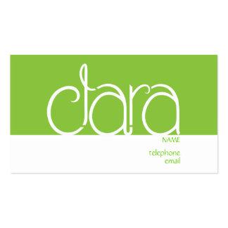 Clara lime business card templates