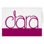 Clara plum Card