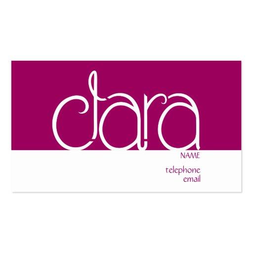 Clara plum Profile Card Pack Of Standard Business Cards