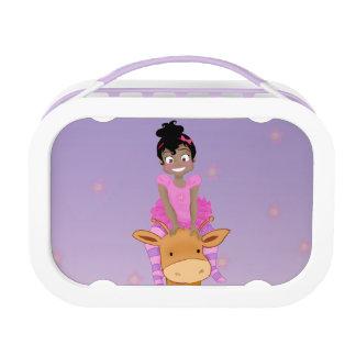 ClaraBelle Blue & Ford Lunchbox - Floral Bkgrd
