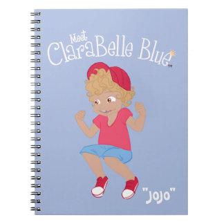 "ClaraBelle Blue Spiral Notebook - ""JoJo"" (Blue)"