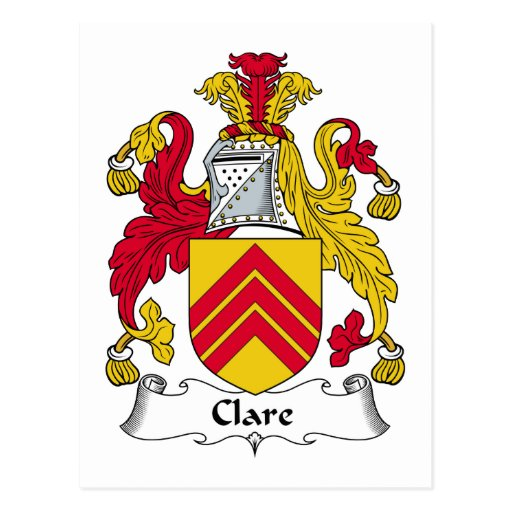 Clare Family Crest Postcards