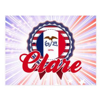 Clare, IA Postcard