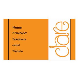 Clare orange Profile Card Business Card Templates