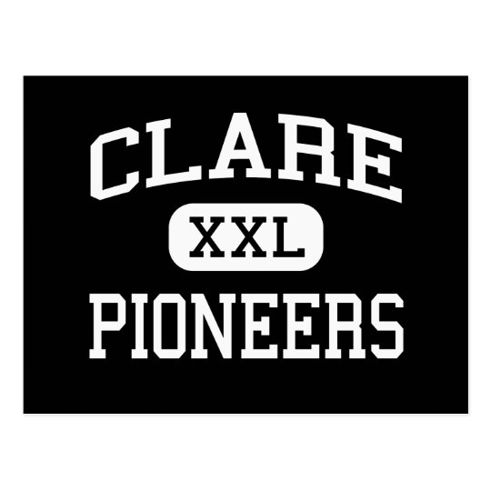 Clare - Pioneers - High School - Clare Michigan Postcard