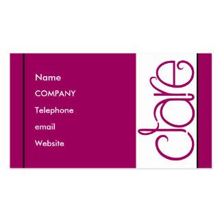 Clare plum Profile Card Business Cards