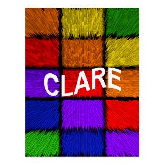CLARE POSTCARD