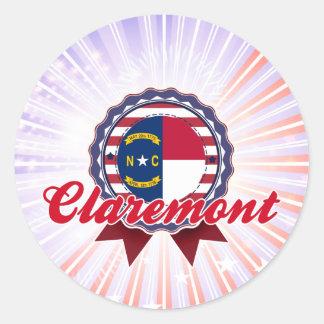 Claremont, NC Round Sticker
