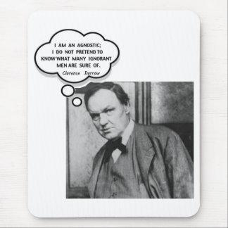 Clarence Darrow I Am An Agnostic Mouse Pad