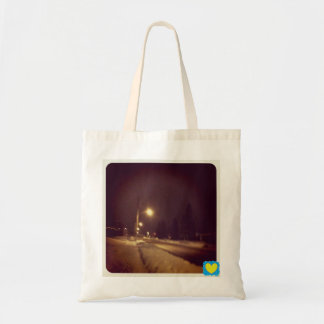 Clarence Street Winter Night tote bag