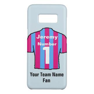 Claret & Blue Football Shirt Customise name & team Case-Mate Samsung Galaxy S8 Case