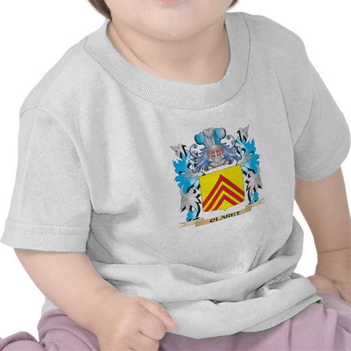 Claret Coat of Arms - Family Crest T Shirts