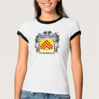 Claret Coat of Arms - Family Crest Tshirts