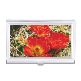Claret Cup Cactus Wildflowers Business Card Holder