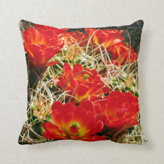 Claret Cup Cactus Wildflowers Cushion