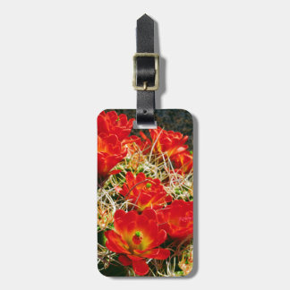 Claret Cup Cactus Wildflowers Luggage Tag