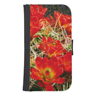 Claret Cup Cactus Wildflowers Samsung S4 Wallet Case