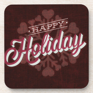 Claret Happy Holiday Snowflake Coaster