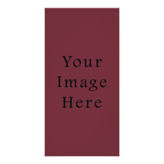 Claret Maroon Red Color Trend Blank Template Photo Card